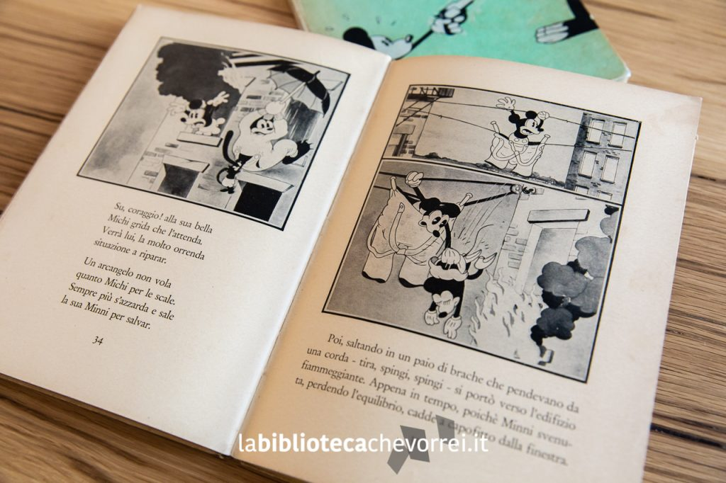 """Pagine interne del primo volume de """"Le avventure di Topolino"""", Frassinelli, 1933."""