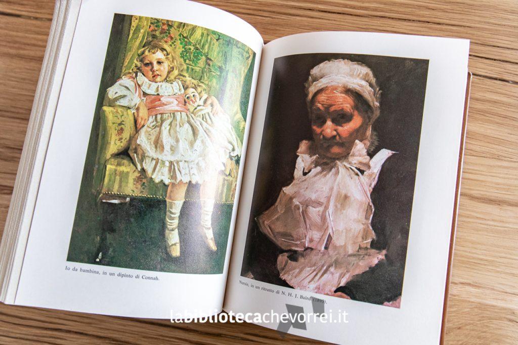 """Pagina interna con immagini a colori nella 1a edizione dell'autobiografia di Agatha Christie """"La mia vita"""", Mondadori 1978."""