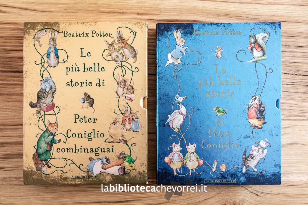 Copertine a confronto: Le più belle storie di Peter Coniglio combinaguai, Sperling & Kupfer, 2013 (a sx) e Le più belle storie di Peter Coniglio, Sperling & Kupfer, 2011 (a dx).