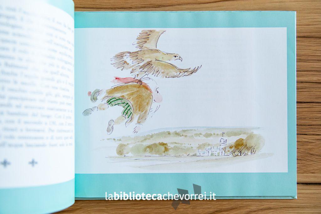 """Pagina interna del libro """"Il vecchio del lago"""" scritto dal Principe Carlo d'Inghilterra."""
