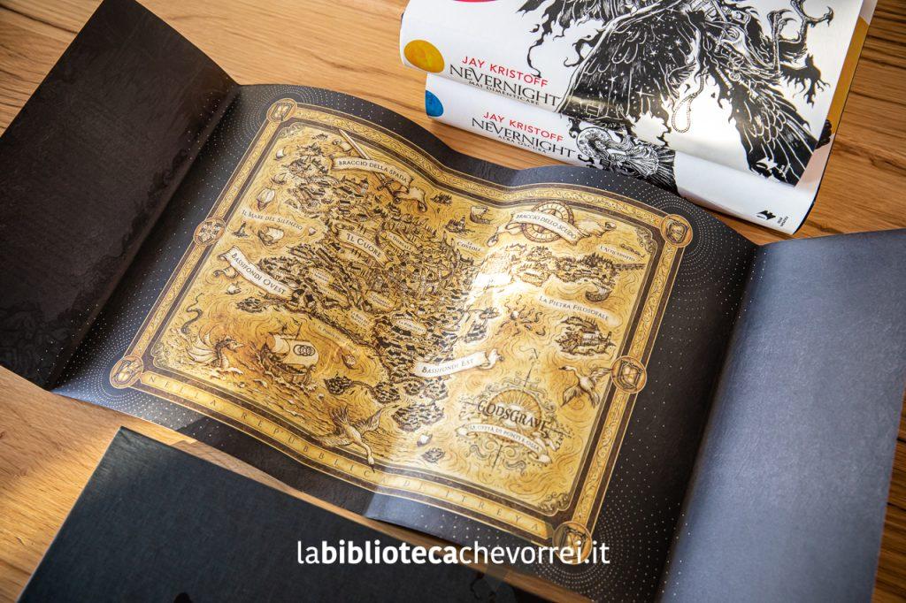 La mappa dietro la sovraccoperta del secondo volume della trilogia.
