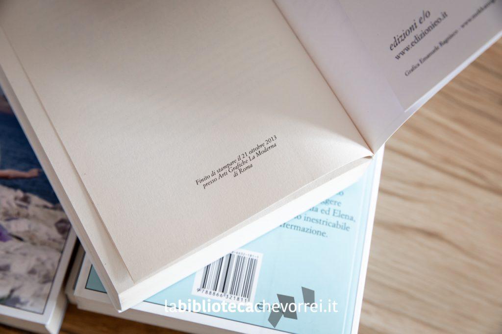 Nell'ultima pagina sono riportati i dati di stampa della prima edizione. Nella foto quelli del terzo volume.