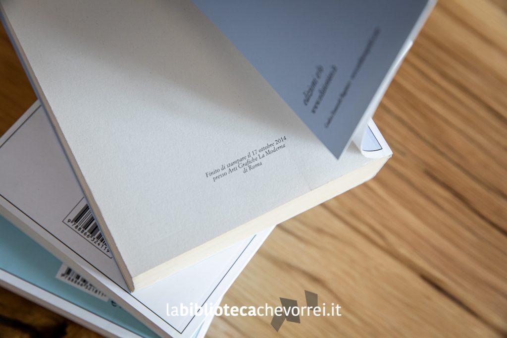 Nell'ultima pagina sono riportati i dati di stampa della prima edizione. Nella foto quelli del quarto e ultimo volume.