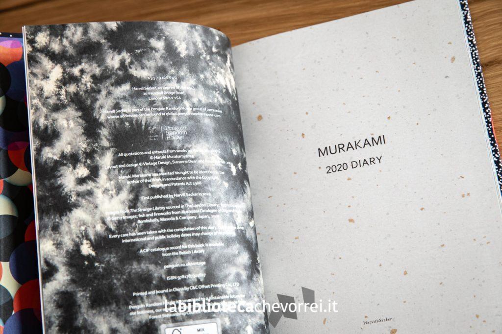 """Frontespizio del volume """"Murakami Diary 2020"""" edito dalla Harvill Secker. 128 pagine."""
