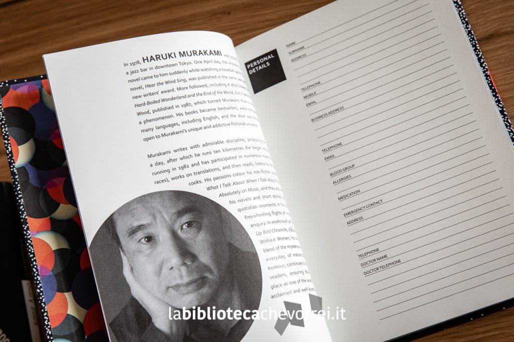"""Pagina iniziale dell'agenda """"Murakami Diary 2020"""" edito dalla Harvill Secker. 128 pagine."""