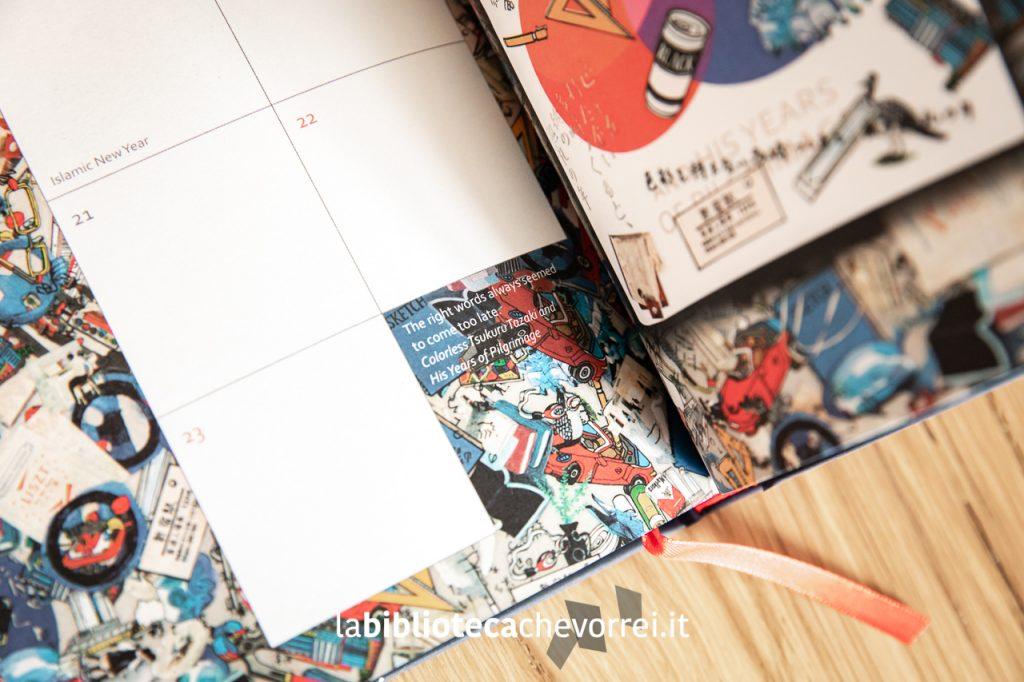 """Dettaglio di una pagina interna del volume """"Murakami Diary 2020"""" pubblicato dalla Harvill Secker."""