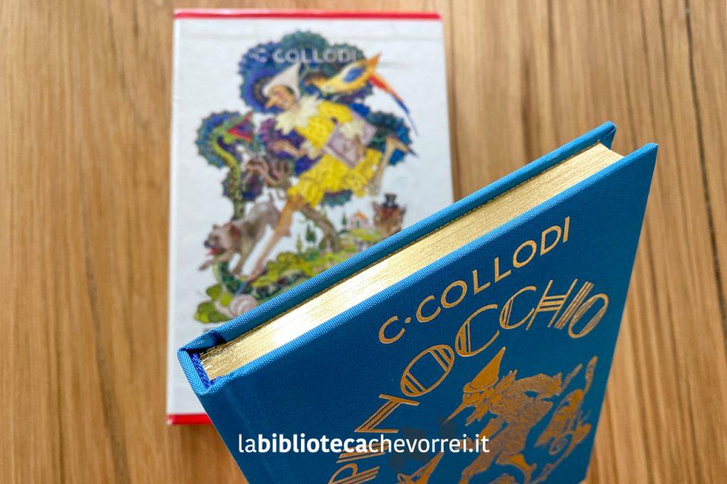 Bordi in oro per Pinocchio, edizione speciale numerata per i 140 anni della casa editrice Salani.