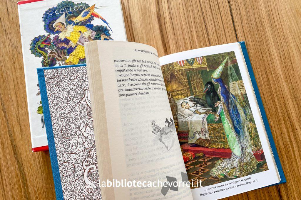 Pagine interne di Pinocchio, edizione speciale numerata per i 140 anni della casa editrice Salani. 2002.