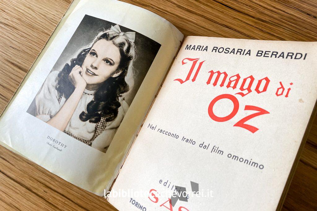 Frontespizio del libro Il mago di Oz, 1949.