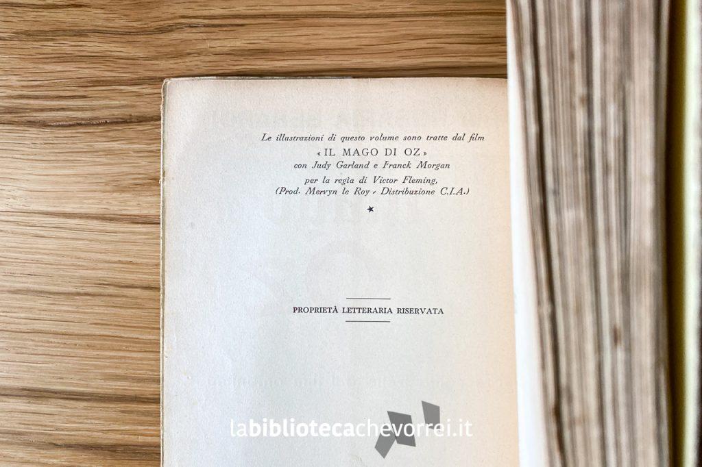 Interno del volume Il mago di Oz, 1949.