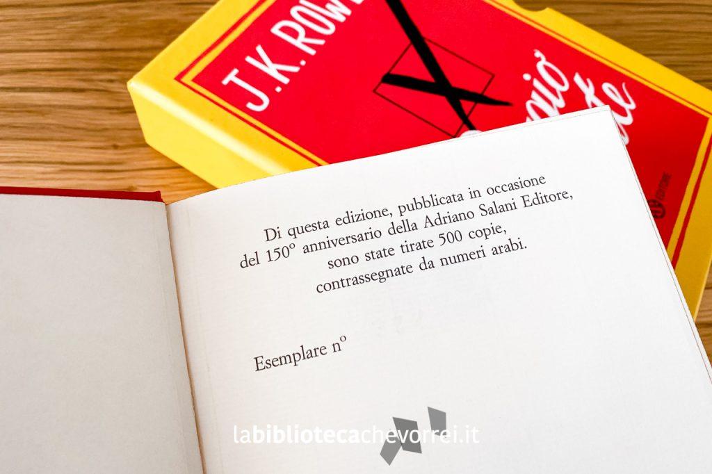 Dati di stampa riportati nell'edizione anniversario per i 150 anni della Adriano Salani Editore.
