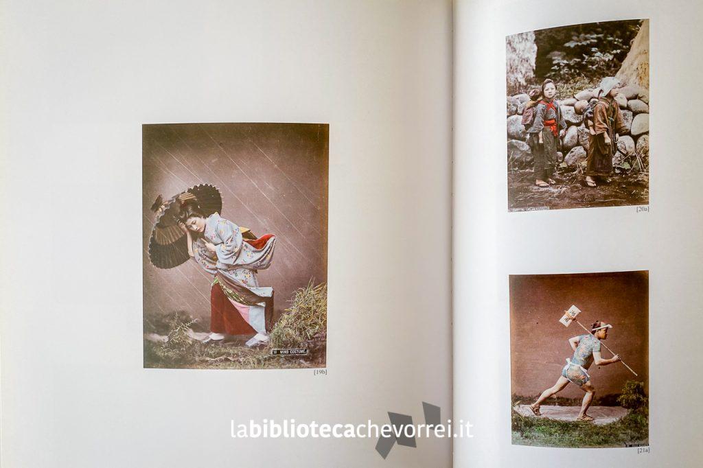 """Pagine interne del volume edito da Giunti: """"Ineffabile Perfezione. La fotografia del Giappone 1960-1910""""."""