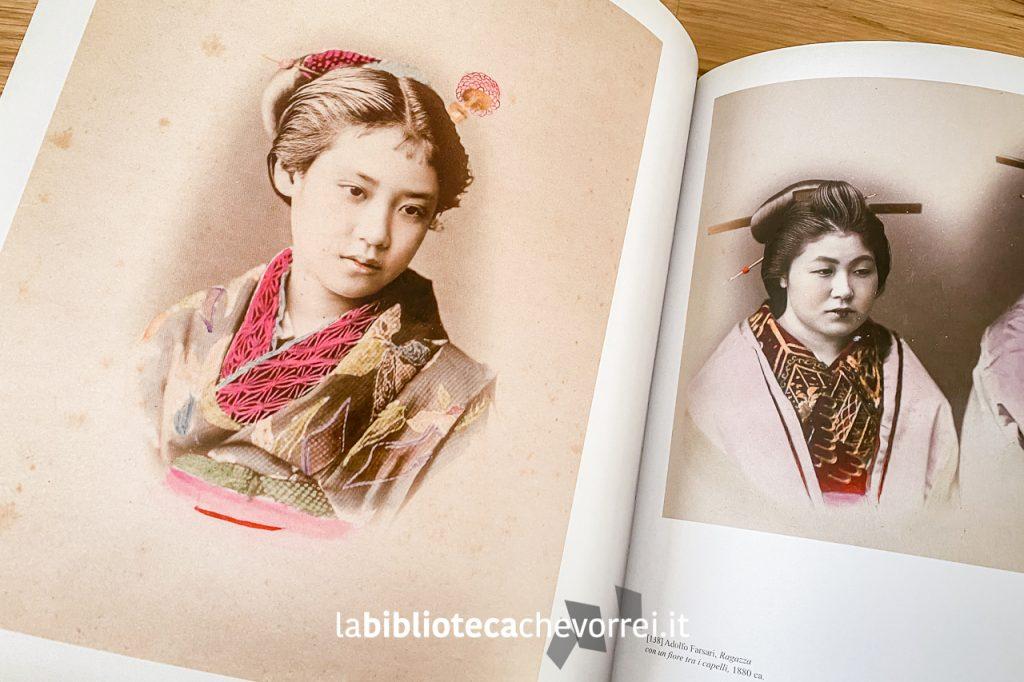 """Ritratti fotografici presenti nel volume edito da Giunti: """"Ineffabile Perfezione. La fotografia del Giappone 1960-1910""""."""