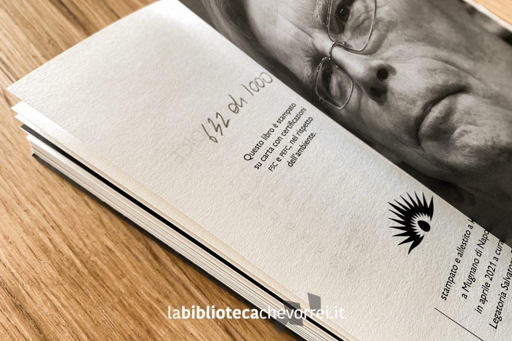 L'ultima pagina di GUNS di Stephen King con la numerazione fata a mano delle 1000 copie.