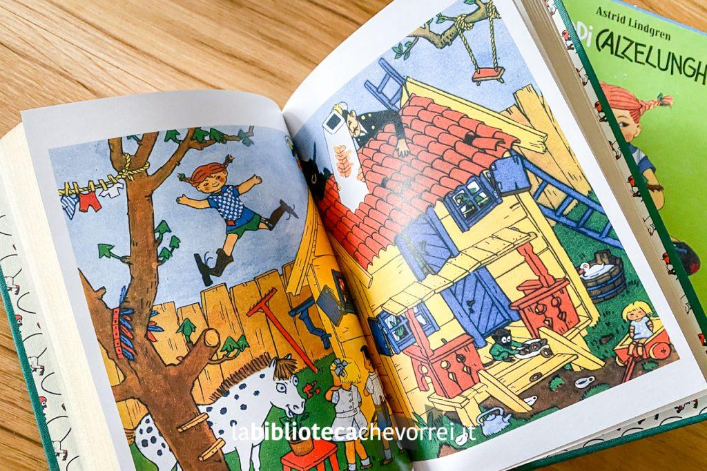 Tavole a colori all'interno del libro Pippi Calzelunghe di Astrid Lindgren pubblicato da Salani nel 2003 in edizione limitata e numerata.