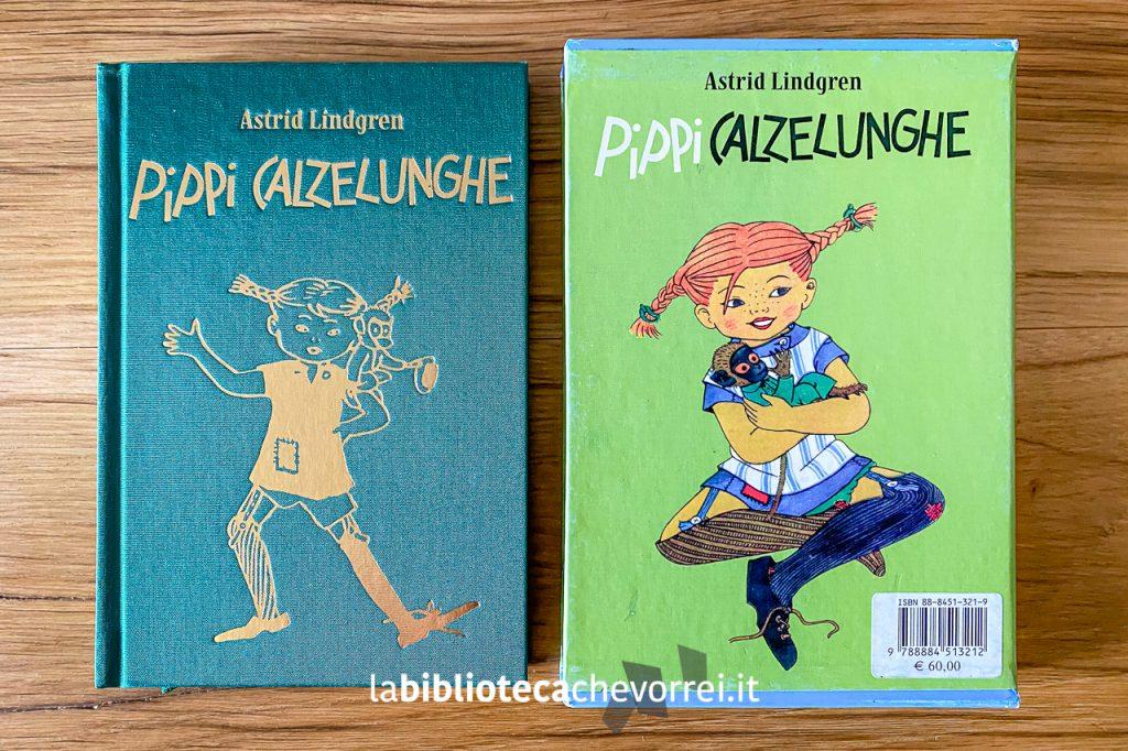 Libro e cofanetto di Pippi Calzelunghe di Astrid Lindgren pubblicato da Salani nel 2003 in edizione limitata e numerata in 1.500 copie.