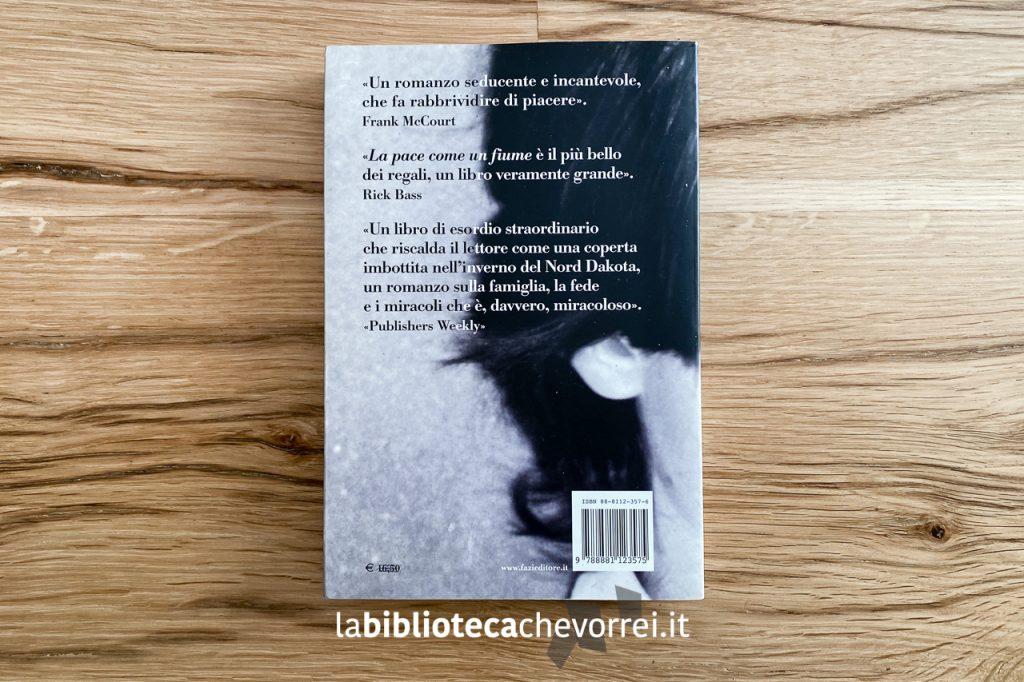 """Retro della copertina del libro """"La pace come un fiume"""" di Leif Enger, Fazi Editore, 2002. Prima edizione."""
