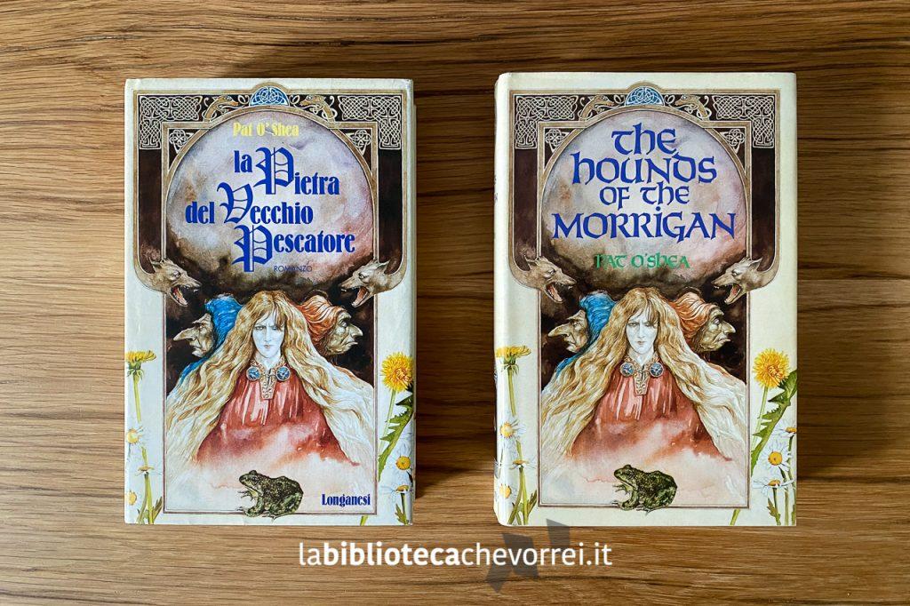 """La prima edizione italiana (1988) de """"La pietra del vecchio pescatore"""" a confronto con la prima edizione inglese (1985)."""